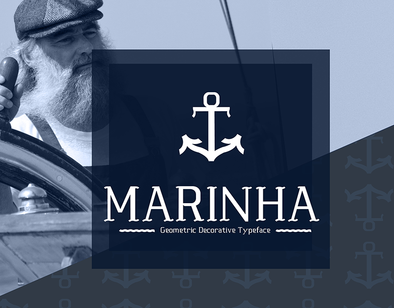 Marinha is a geometric and decorative typeface inspired by the ocean waves