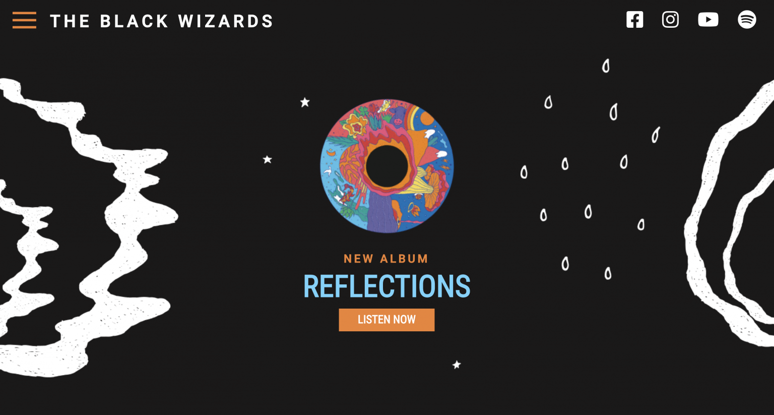 The Black Wizards Official Website developed by Ângela Torres